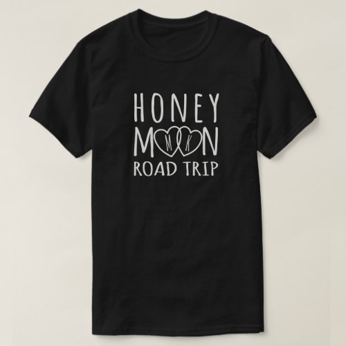 Personalized Honeymoon Road Trip  Light on Dark T_Shirt