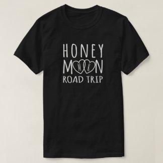 Personalized Honeymoon Road Trip | Light on Dark Tee Shirt