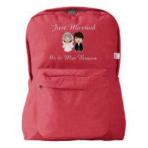 Personalized Honeymoon wedding gift Backpack