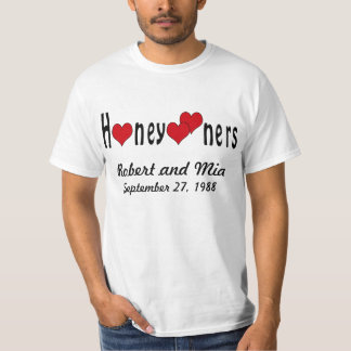 Personalized Honeymooners and Hearts Tshirt