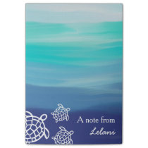 Personalized Honu Sea Turtles Ocean Beach Post-it Notes