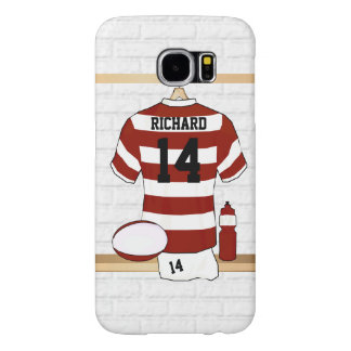 Personalized Hooped Rugby Jersey in Locker Room Samsung Galaxy S6 Cases
