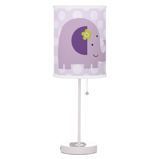 Personalized Hopscotch Elephant dots Nursery Lamp