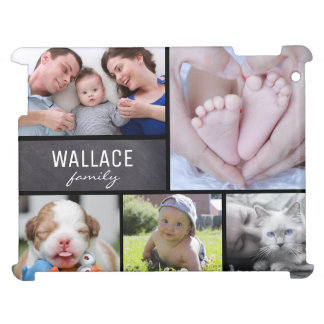Personalized, Horizontal, Photo Collage, Family iPad Case
