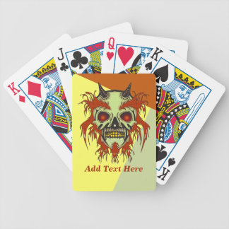 Personalized Horned Cyborg Skull Playing Cards