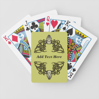 Personalized Horned Skull Playing Cards