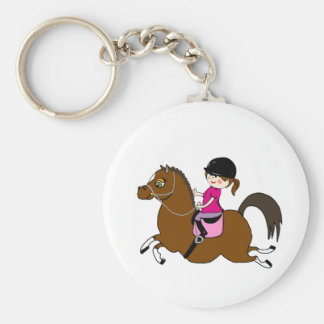 Personalized Horse and Rider Dressage Accessory Basic Round Button Keychain