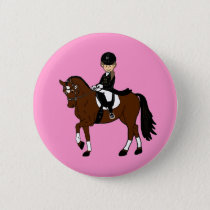 Personalized Horse and Rider Dressage Accessory Button