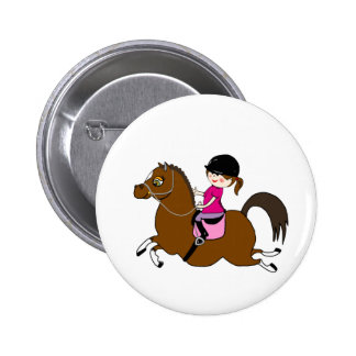 Personalized Horse and Rider Dressage Accessory Pin
