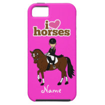 Personalized Horse and Rider Dressage Accessory iPhone SE/5/5s Case