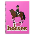 Personalized Horse and Rider Dressage Accessory Notebooks