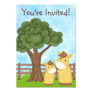 Personalized Horse Baby Shower Invitation ~ Boys