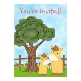 Personalized Horse Baby Shower Invitation ~ Girls