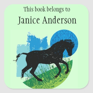 Personalized Horse Bookplate Sticker