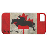 Personalized Horse Jumper Canada Flag iPhone Case iPhone 5 Covers