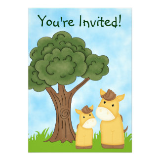Personalized Horse Neutral Baby Shower Invitation