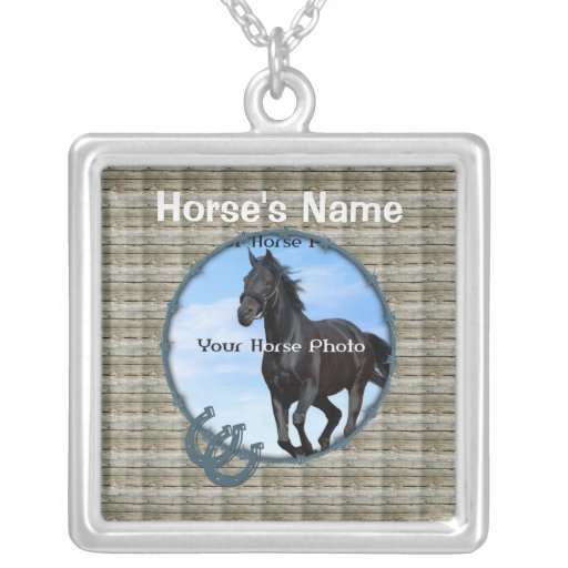 Personalized Horse Photo and Name Necklace
