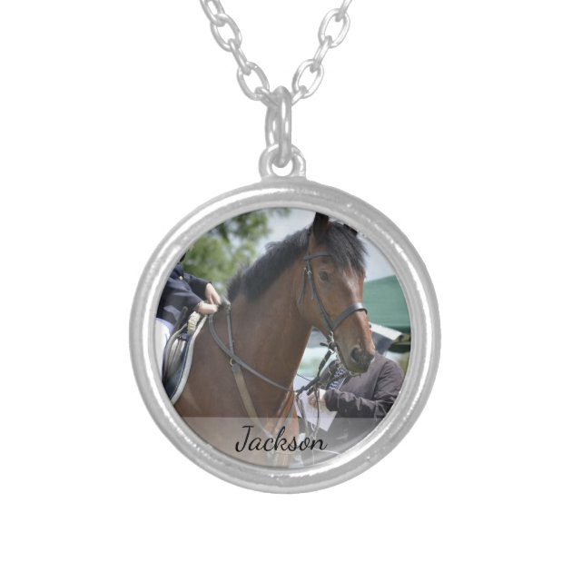 Silver Plated NECKLACE Someone Special HORSE Rider Riding Pony Love animal Gift