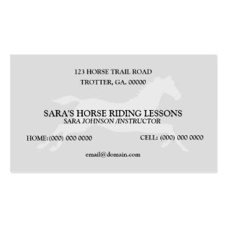 Personalized Horse Riding Instructor Business Card