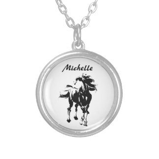 Personalized Horse Silhouette Necklace
