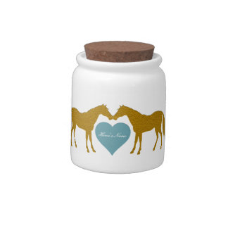 Personalized Horse Treat Jar Candy Jar
