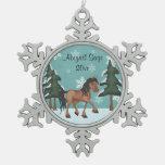 Personalized Horse Winter Scene Christmas Ornament