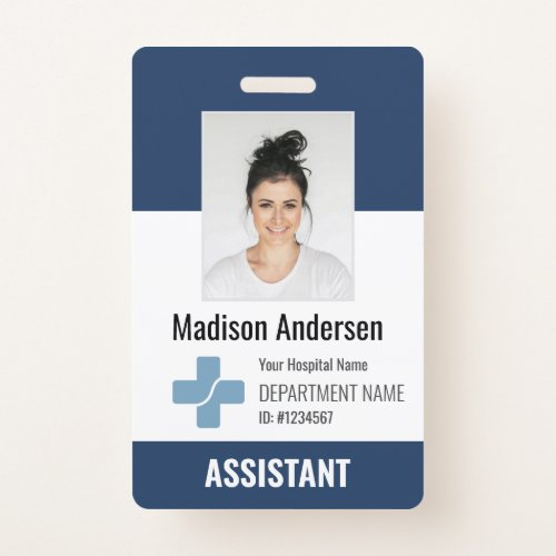 Personalized Hospital Employee Logo  Photo ID Badge