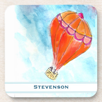 Personalized Hot Air Balloon Beverage Coaster