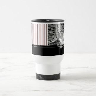 Personalized Hot Paris Striped Photo Mug