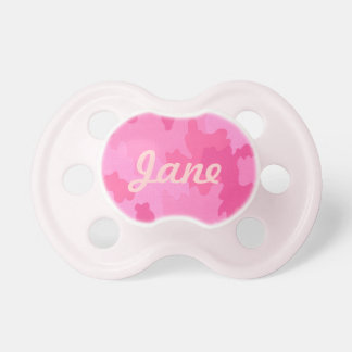 Personalized Hot Pink Camouflage Pacifier