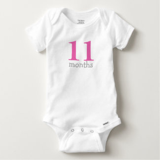 Personalized Hot Pink Monthly Baby Baby Onesie