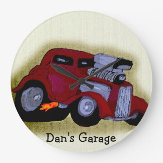 Personalized Hot Rod Caricature Clock