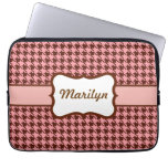 Personalized Houndstooth Laptop Bag Computer Sleeve Cases