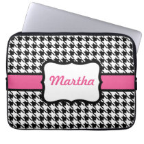 Personalized Houndstooth Laptop Case Computer Sleeves