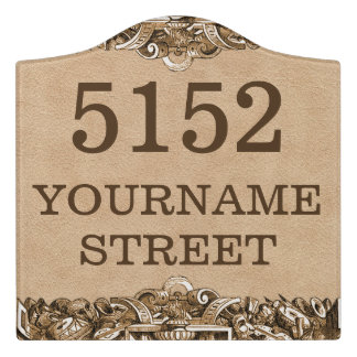 Personalized House Address Sign Door Sign