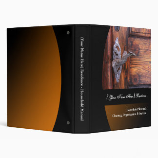 Personalized Household Manual Binder