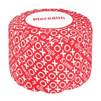 Personalized Hugs and Kisses Pouf