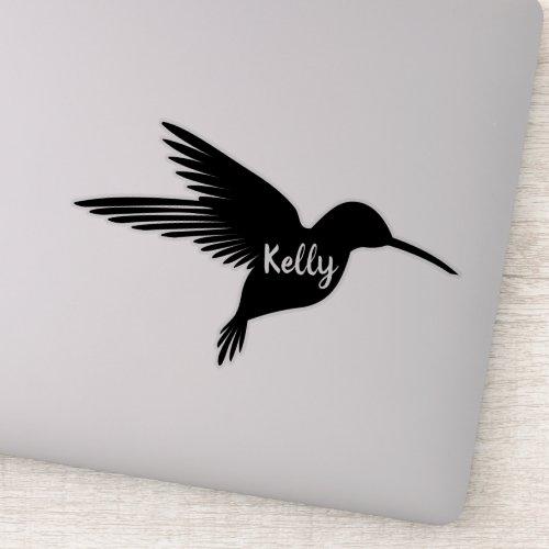 Personalized Hummingbird Vinyl Cut Sticker