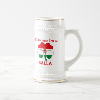Personalized Hungarian Kiss Me I'm Balla 18 Oz Beer Stein