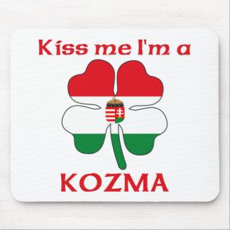 Personalized Hungarian Kiss Me I'm Kozma Mouse Mats