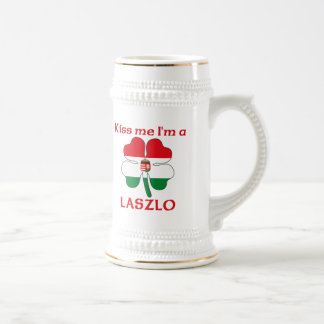 Personalized Hungarian Kiss Me I'm Laszlo Beer Stein