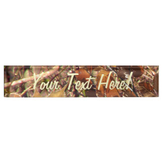 Personalized Hunter's Camo Camouflage Painting Nameplate