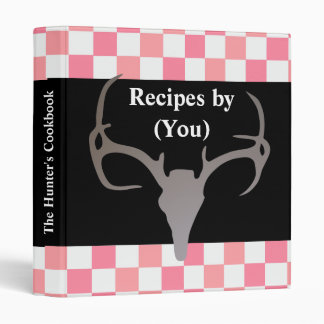 Personalized Hunter's Checkerboard Recipe Cookbook 3 Ring Binder
