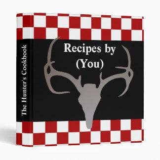 Personalized Hunter's Checkerboard Recipe Cookbook Vinyl Binder