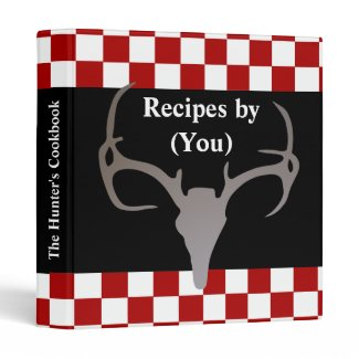 Personalized Hunter's Checkerboard Recipe Cookbook Vinyl Binder