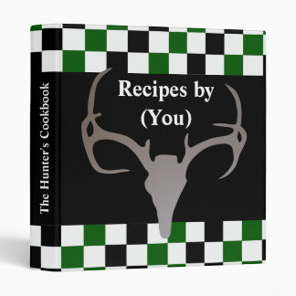 Personalized Hunter's Checkerboard Recipe Cookbook Binder