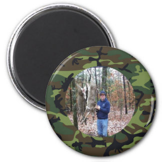 Personalized Hunter's Green Camo Photo Magnet