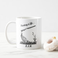 Personalized Hunting Is Life Pheasant and Shotgun Coffee Mug