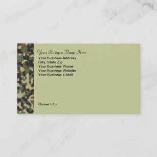 Black camo business cards templates zazzle personalized hunting theme camo business card colourmoves
