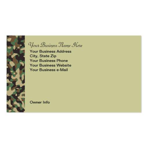 Camo business card templates page3 bizcardstudio personalized hunting theme camo business card colourmoves